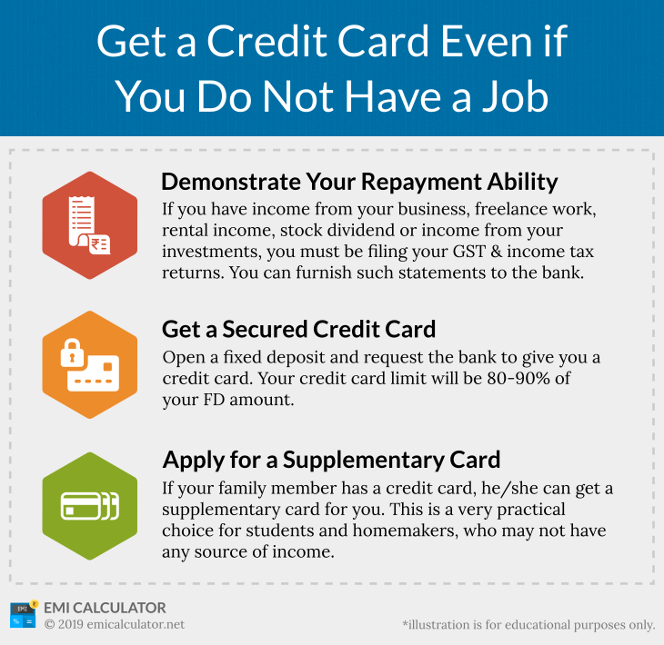 Credit Card Without Job