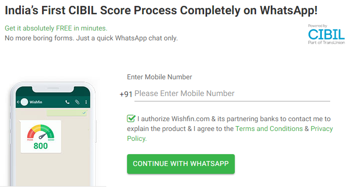 CIBIL Score on WhatsApp